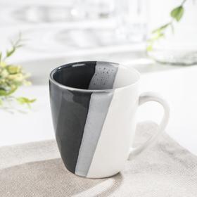 Кружка «Полоски», 240 мл, цвет серый