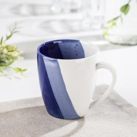Кружка «Полоски», 240 мл, цвет синий