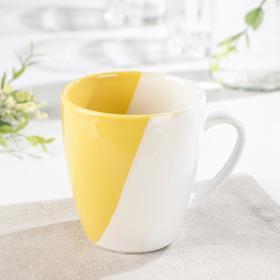Кружка «Полоски», 340 мл, цвет жёлтый