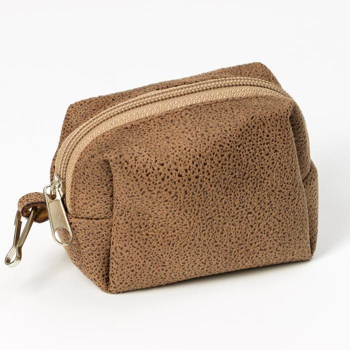 """Набор для уборки за собаками """"Пижон"""" сумка+пакеты 18х28 см, 20 шт, коричневый/фиолетовый"""