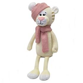 Мягкая игрушка «Тигрица Терри в розовой шапке и шарфике», 25 см