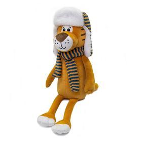 Мягкая игрушка «Тигр Лайт в шапке-ушанке», 25 см