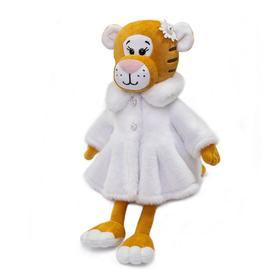 Мягкая игрушка «Тигрица Айс в шубе», 25 см
