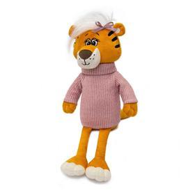 Мягкая игрушка «Тигрица Марни в розовом свитере», 25 см