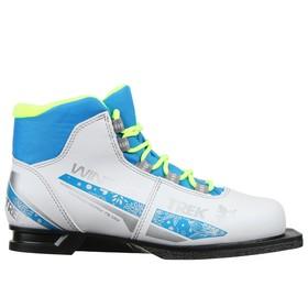 Ботинки лыжные женские TREK Winter 3 NN75, цвет белый, лого синий, размер 30