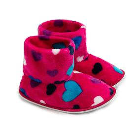 Тапочки женские, цвет розовый сердечки, размер 36