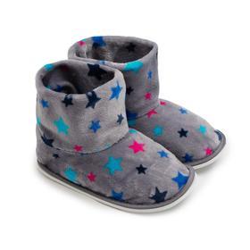 Тапочки женские, цвет серый звезды, размер 35