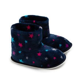Тапочки женские, цвет тёмно-синий звезды, размер 35