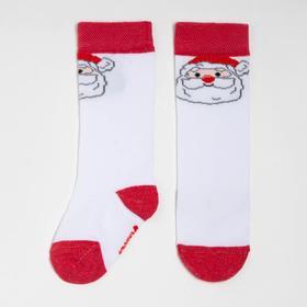 """Гольфы Крошка Я """"Санта"""" 8-10 см, белый"""