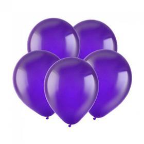 """Шар латексный 12"""", кристалл, набор 10 шт., цвет фиолетовый"""