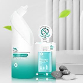 """Сет - Очиститель туалета и ванны DutyBox """"WC"""" (ёмкость + 2 концентрата)"""