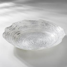 Блюдо сервировочное «Античная роза», d=30 см, цвет платина