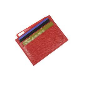 Картхолдер, 5 карманов, цвет красный