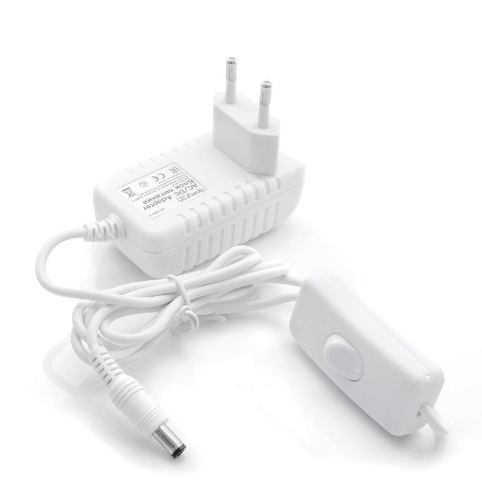 Блок питания Apeyron electrics 12В, 6Вт, IP44, 0.5А, 2.5x5.5 мм, пластик, 75x30x43 мм
