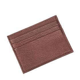 Картхолдер, 4 кармана, цвет бордовый