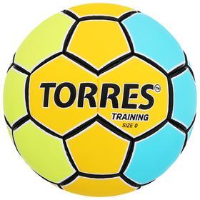 Мяч гандбольный TORRES Training, размер 0, ПУ, ручная сшивка, цвет жёлтый/голубой Ош