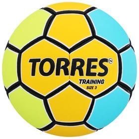 Мяч гандбольный TORRES Training, размер 3, ПУ, ручная сшивка, цвет жёлтый/голубой Ош