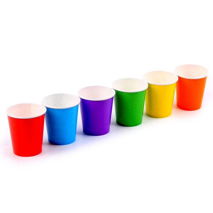 Набор бумажных стаканов Разноцвет