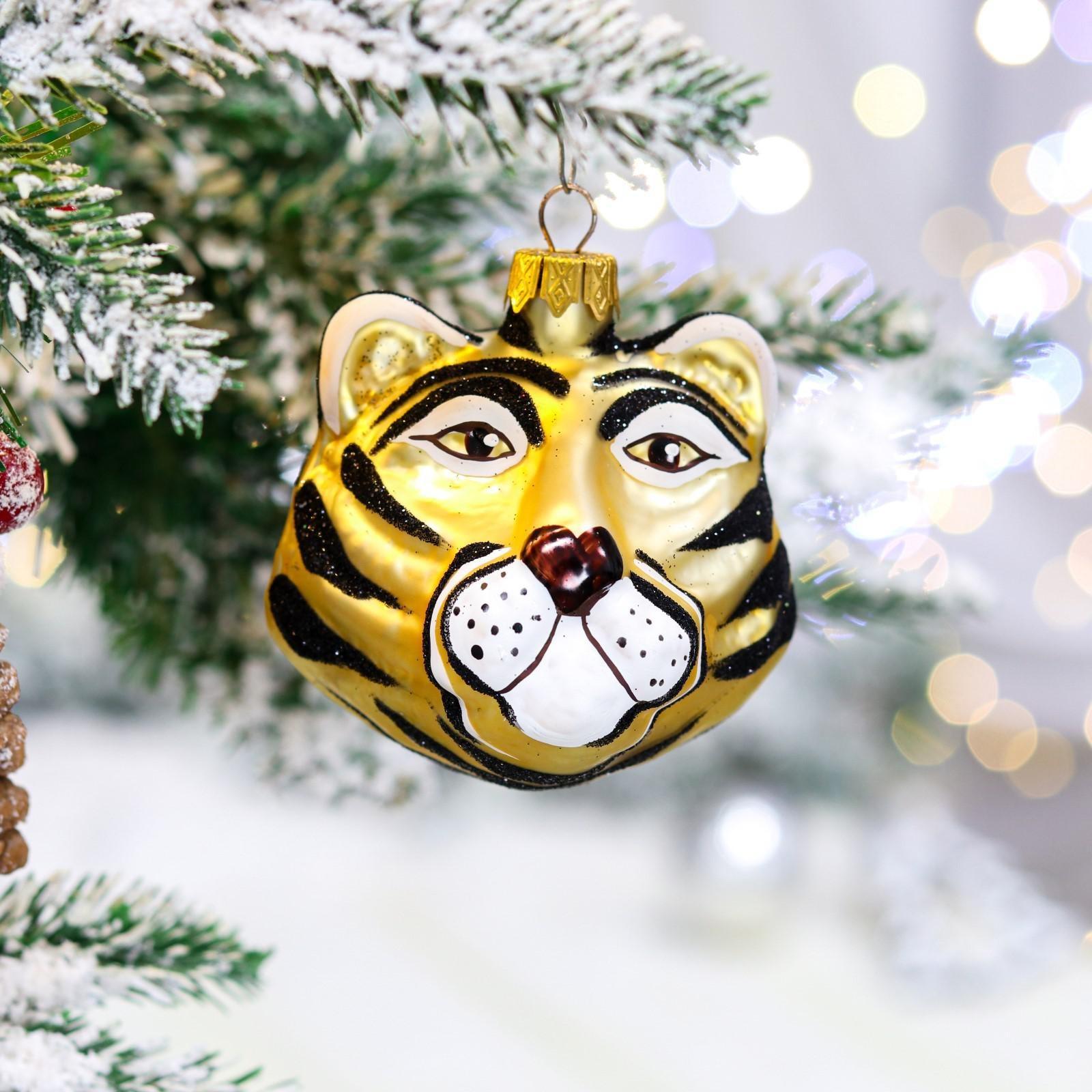 """Ёлочная игрушка """"Тигр"""", символ года 2022, 7.5 см"""