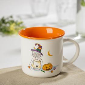 Кружка Доляна «Хэллоуин. Котик хочет сладостей», 370 мл