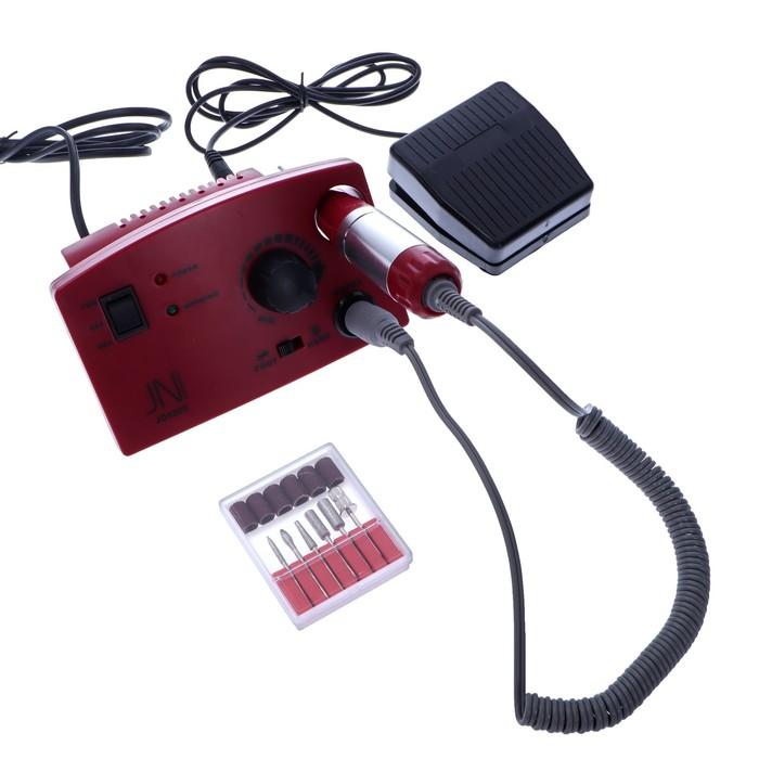 Аппарат для маникюра и педикюра JessNail JD4500, 4 фрезы 30000 об/мин, 35 Вт, красная