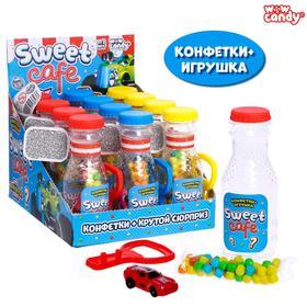Набор с конфетами Sweet cafe, машинка, в бутылочке, МИКС