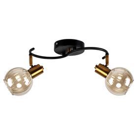 Светильник SP.020-62-52, 2x40Вт E14, цвет чёрный, золото