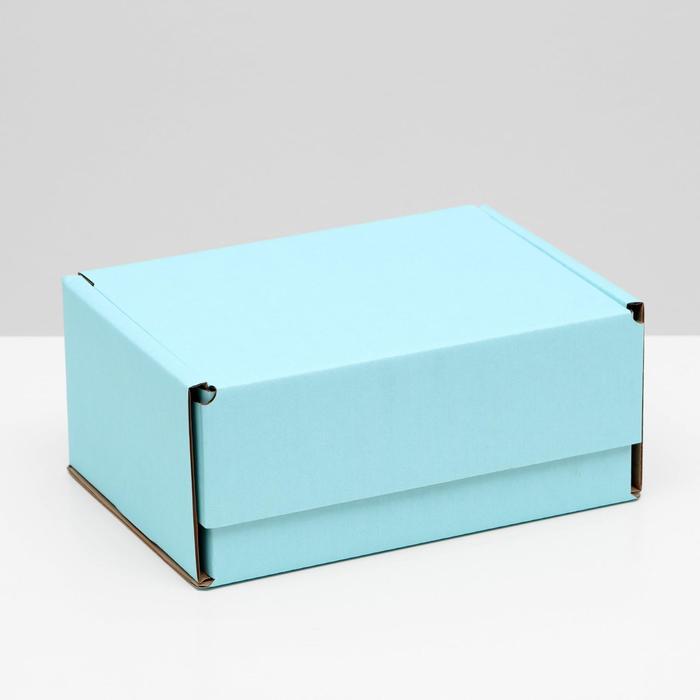Коробка самосборная, голубая, 22 х 16,5 х 10 см,