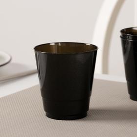 Стакан Доляна «Кристалл», 200 мл, цвет чёрный, флуоресцентный