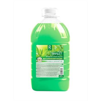 """Крем-мыло """"Аура"""" Витаминизирующее Зеленый чай и алоэ вера, 5 л - Фото 1"""