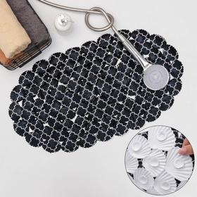 SPA-коврик для ванны SAVANNA «Марокко», 37×68 см, цвет чёрный