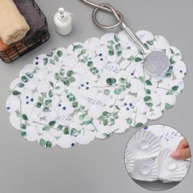 SPA-коврик для ванны SAVANNA «Эвкалипт», 37×68 см, цвет белый