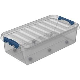 Ящик под кроватный с крышкой на колесах «Профи комфорт», 35 литров