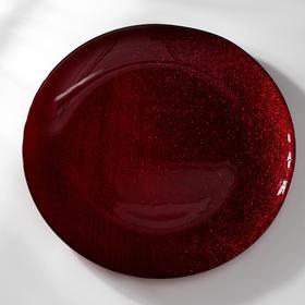 Тарелка «Талисман», d=28 см, цвет красный