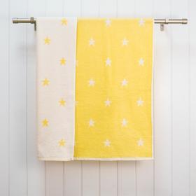 Полотенце махровое Stars 48х70, цвет жёлтый