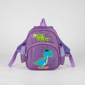 Рюкзак детский, отдел на молнии, наружный карман, 2 боковых кармана, цвет сиреневый Ош