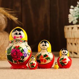 """Матрешка  """"Настя"""" 8-9 см,  5 кукольная, ручная работа"""