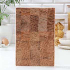Доска разделочная торцевая, 30×20×2,5 см, массив бука