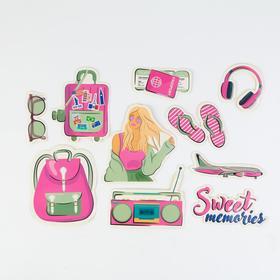 Наклейки на чемодан Sweet memories, 10 шт Ош