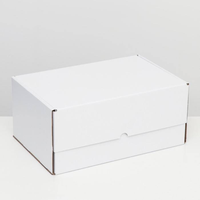 """Коробка самосборная """"Почтовая"""", белая, 40 х 27 х 18 см,"""