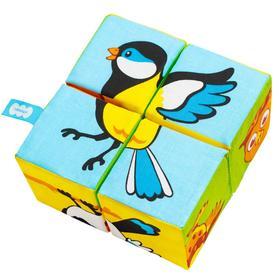 Набор мягких кубиков «Птицы. Собери картинку»