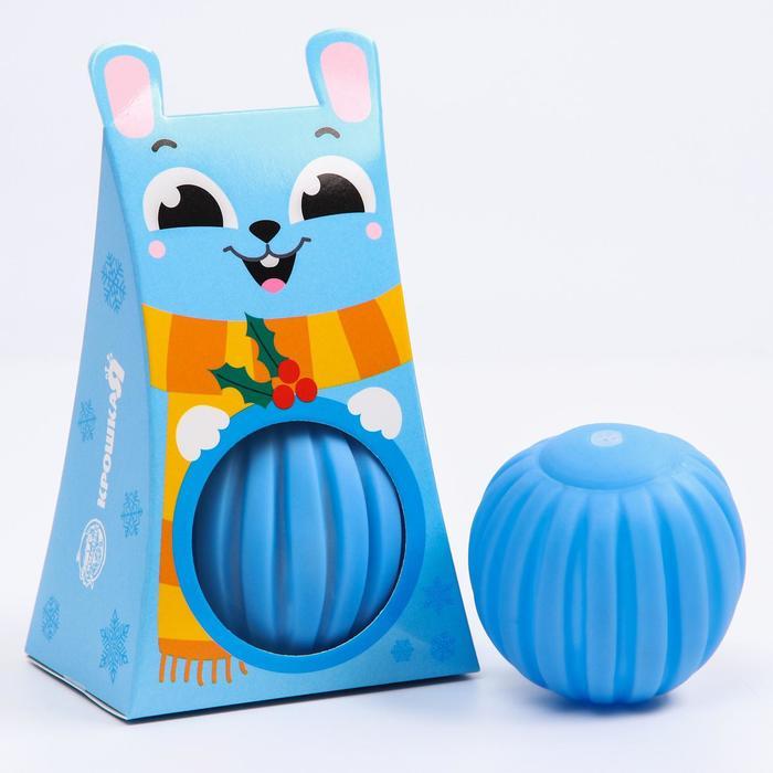Развивающий массажный рельефный мячик Зайка, 1 шт.