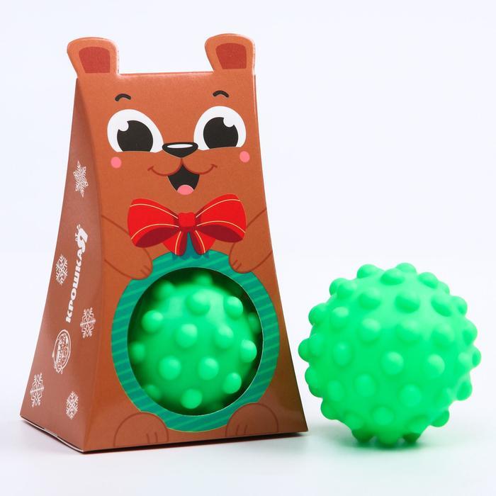 Развивающий массажный рельефный мячик Мишка, 1 шт.