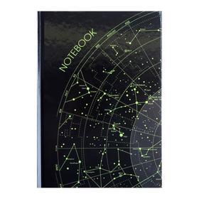 """Колледж-тетрадь А5, 64 листа в клетку """"Космос. Карта-1"""", твёрдая обложка, глянцевая ламинация, блок офсет"""