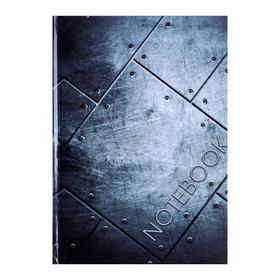 """Колледж-тетрадь А5, 64 листа в клетку """"Металл"""", твёрдая обложка, глянцевая ламинация, блок офсет"""