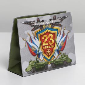 Пакет ламинированный горизонтальный «Танки и самолёты», S 15 × 12 × 5.5 см