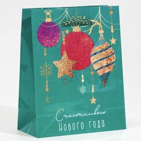 Пакет ламинированный вертикальный «Счастливого Нового года», S 12 × 15 × 5,5 см