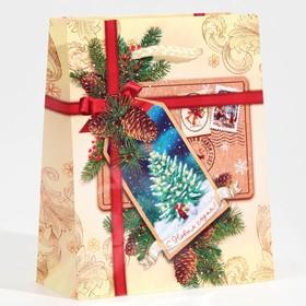 Пакет ламинированный вертикальный «С Новым годом!», S 12 × 15 × 5,5 см