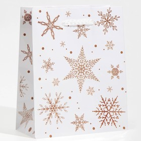 Пакет ламинированный вертикальный «Снежинки», S 12 × 15 × 5,5 см