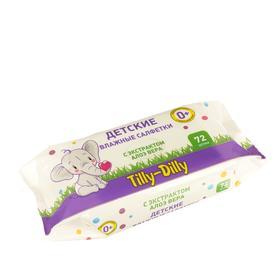 Влажные детские салфетки Tilly-Dilly  АЛОЭ 72 шт